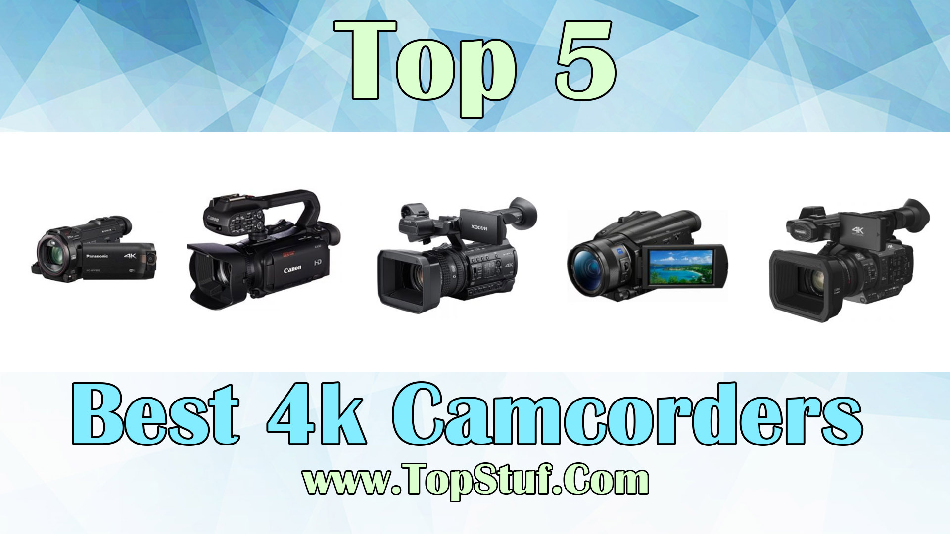 Top 5 best 4k Camcorders - Perfect Gift For Film Makers!