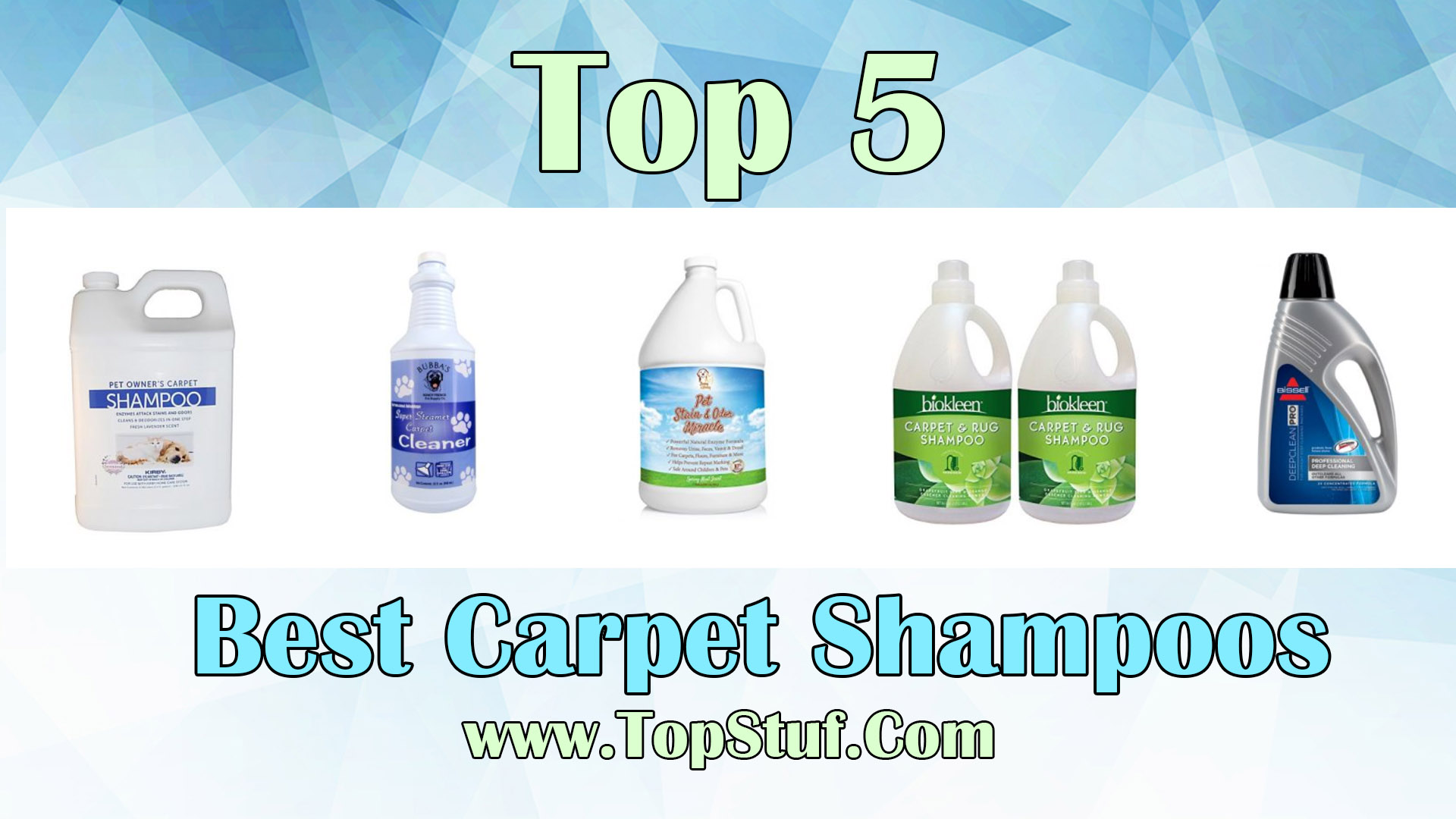 Best Carpet Shampoos