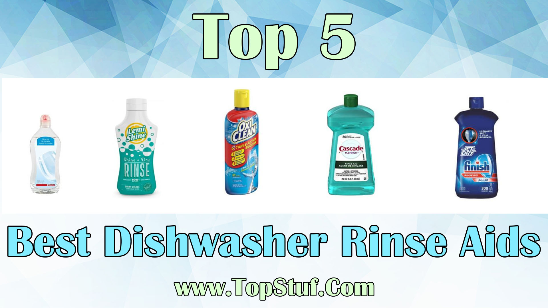 Best Dishwasher Rinse Aids