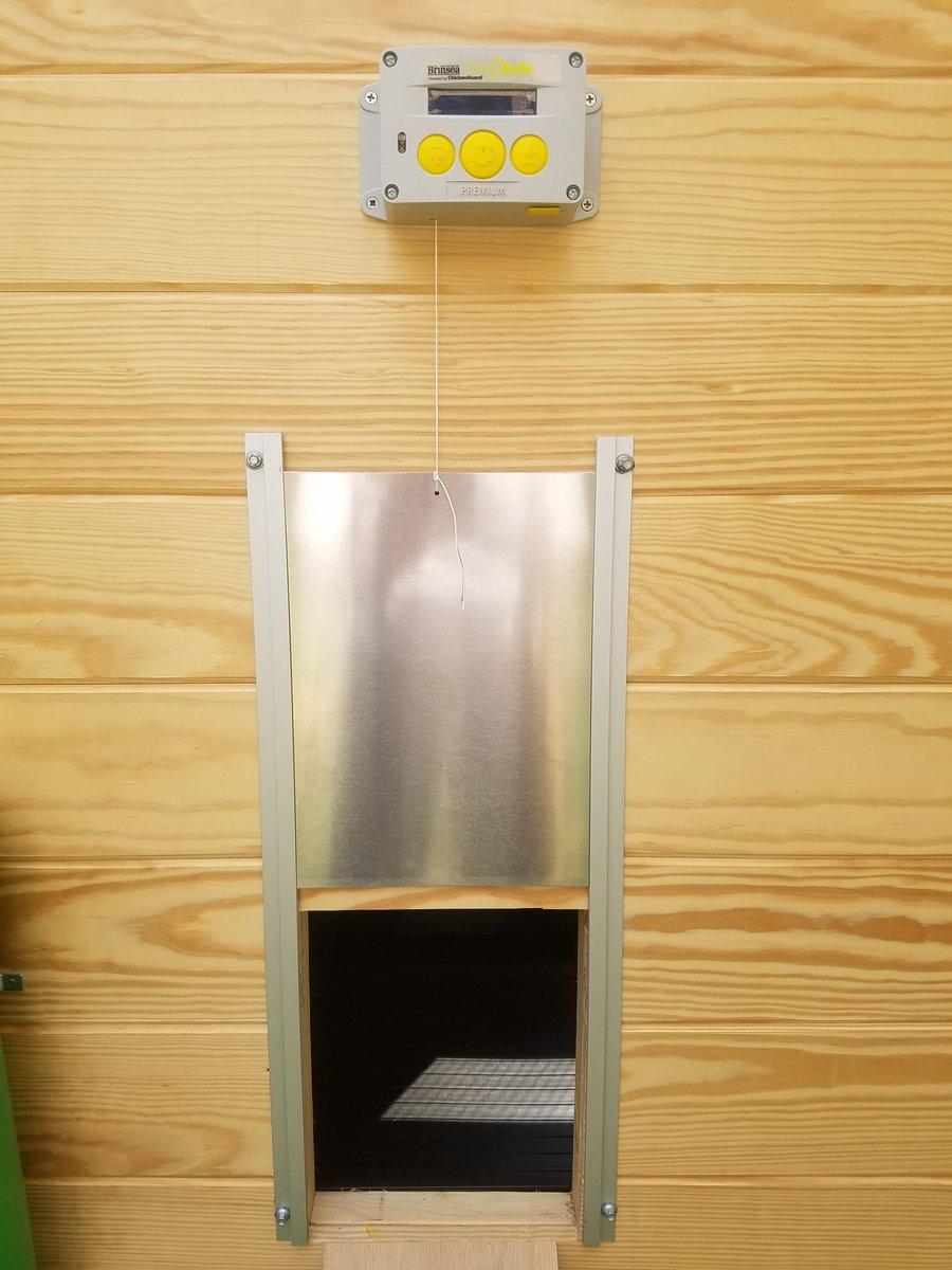 Brinsea Products Chick Safe Premium Automatic Chicken Coop Door Opener, Grey/Yellow
