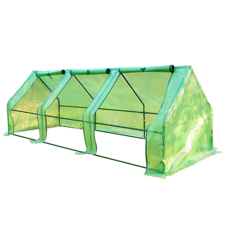 Outsunny Portable Flower Garden Greenhouse