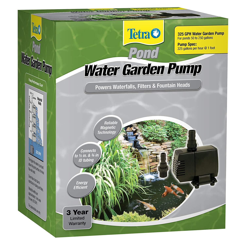TetraPond Water Garden Pump, Powers Waterfalls/Filters/Fountain Heads