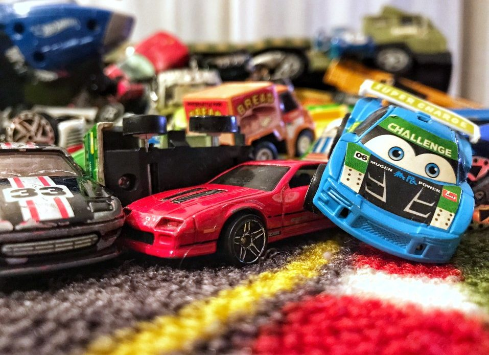 Why are kids obsessed with cars and trucks?